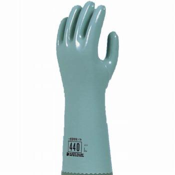 ダイローブ 裏地付耐溶剤用セミロング 一般溶剤用ソフト手袋 [10双入] 440 ゴム手袋 裏布あり