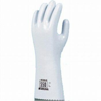 ダイローブ 裏地付耐溶剤 一般溶剤用手袋 [10双入] 550 ゴム手袋 裏布あり
