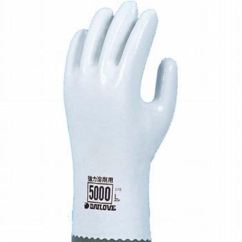 ダイローブ 裏地付耐溶剤 強力溶剤用手袋 [10双入] 5000 ゴム手袋 裏布あり