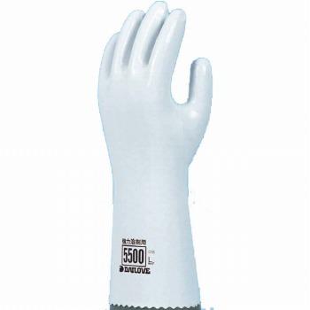 ダイローブ 裏地付耐溶剤 強力溶剤用手袋セミロング 5500 ゴム手袋 裏布あり