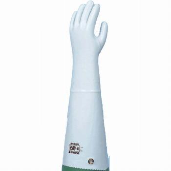 ダイローブ 裏地付耐溶剤 強力溶剤用手袋ロング 5500-55 ゴム手袋 裏布あり