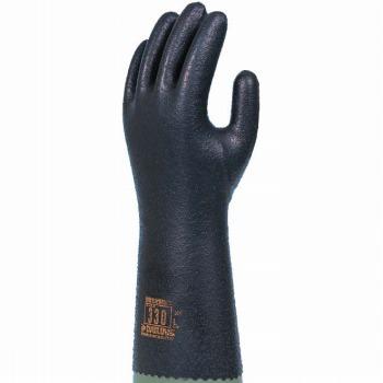 ダイローブ 裏地付静電気対策用 スベリ止付 ロング [10双入] 330 ゴム手袋 裏布あり