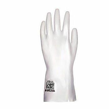ダイローブ 耐溶剤用 シリコーン手袋 ロング (裏地なし) [1双入] H202