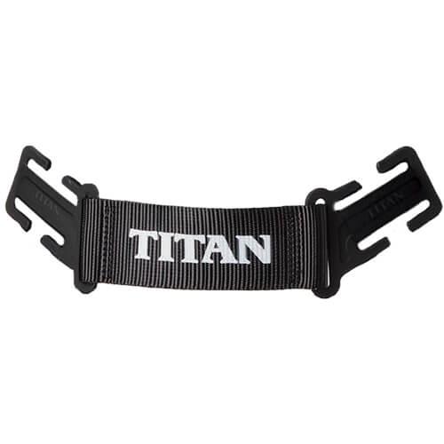 ハーネス用部品/バックサポート(TAITANロゴ入り) 高所作業 安全用品