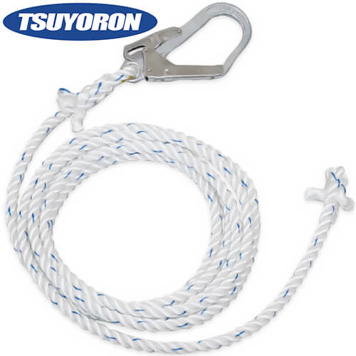 母線ロープ(昇降移動用親綱) サイズ:20m L-20 高所作業 安全用品
