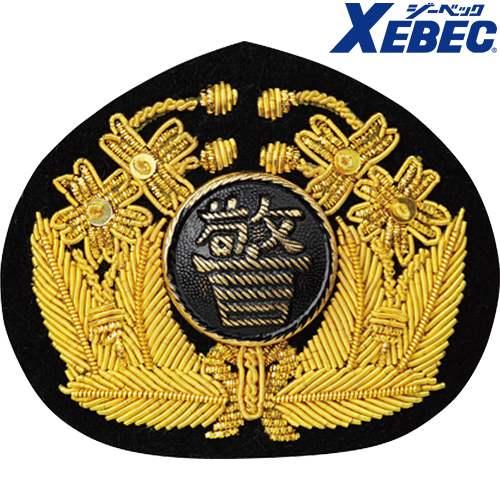 帽章 モール三枚葉(警中入れ)  18537 セキュリティーウエア