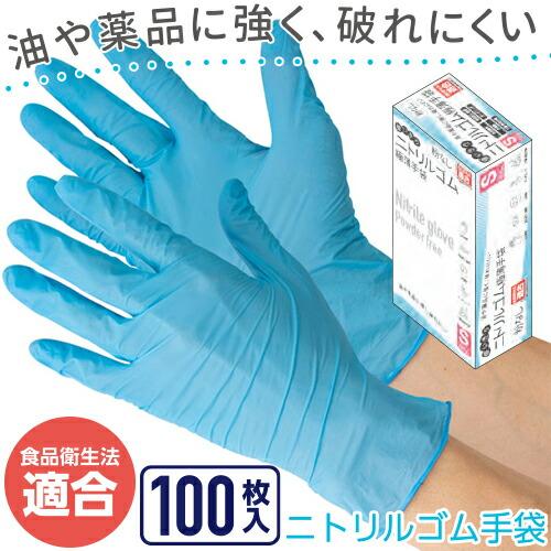 使いきりニトリルゴム極薄手袋(粉なしタイプ) CW035 ニトリルゴム 粉なし