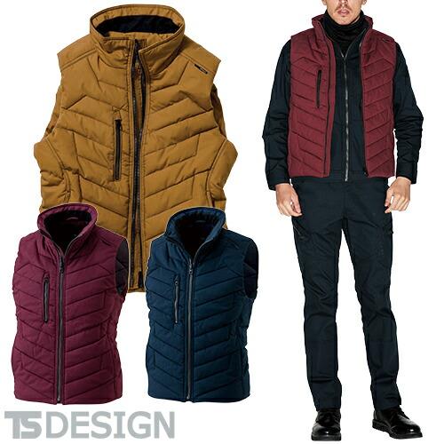 藤和 TS Design 作業着 作業服 ベスト ライトウォームベスト 3528 作業着 通年 秋冬