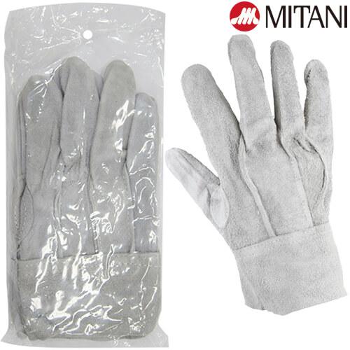 ミタニ #334牛床革手袋背縫い 総革製
