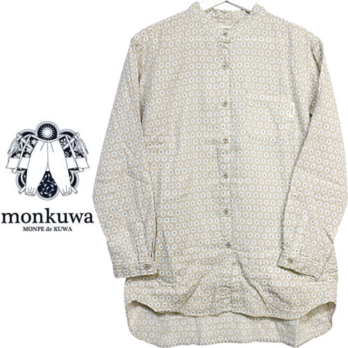 monkuwa Wガーゼシャツ 102シードベージュ MK36102