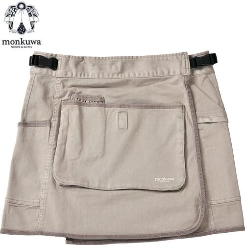綿ストレッチエプロンスカート 012サンドベージュ MK38176 園芸 かわいい 農作業 野良着
