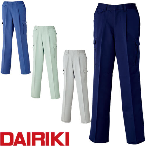 DAIRIKI ダイリキ カーゴパンツ(脇ゴム入り) 05006 作業着 通年 秋冬
