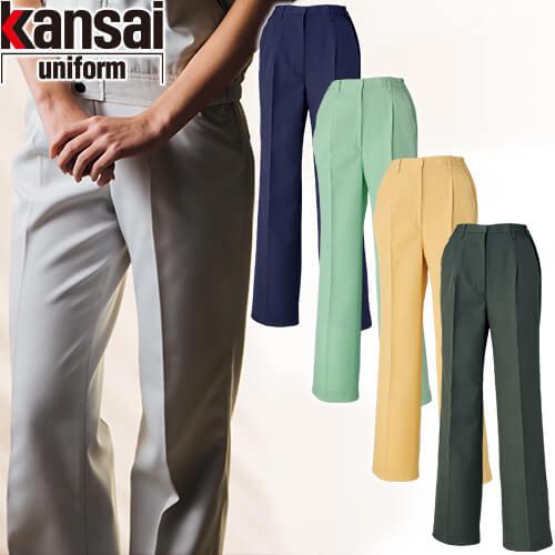 kansai uniform カンサイユニフォーム K80605 レディーススラックス(脇ゴム入り) 80605 作業着 通年 秋冬