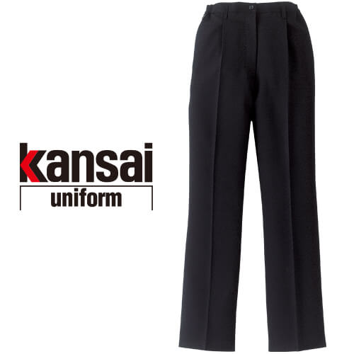 kansai uniform SOFT WORK カンサイユニフォームソフトワーク KS-255 スラックス(レディース)(脇ゴム入り) 02555 作業着 通年 秋冬