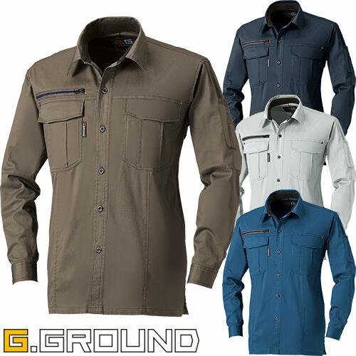 G.GROUND 長袖シャツ 165 作業着 春夏