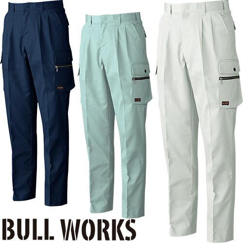 BULL WORKS ツータックカーゴパンツ 1998 作業着 通年 秋冬