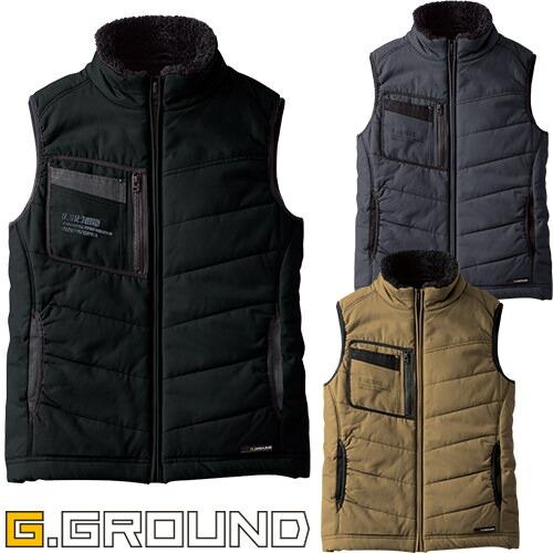 G.GROUND 防寒ベスト 5106 作業着 防寒 作業服