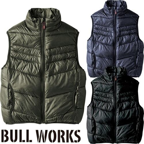 BULL WORKS 防寒ベスト 43556 作業着 防寒 作業服