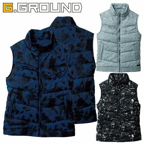 G.GROUND 防寒ベスト 1141171 作業着 防寒 作業服