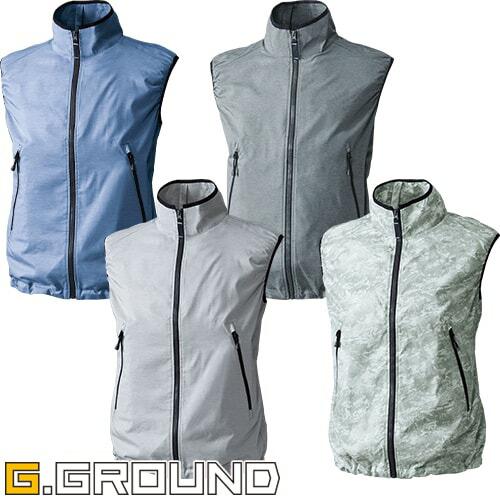 G.GROUND EF用 ベスト 7159-06 作業着 作業服 春夏