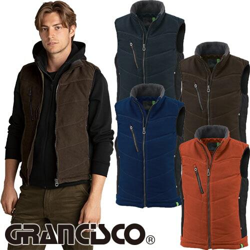 GRANCISCO グランシスコ 防寒ベスト(配色) GC-5102 作業着 防寒 作業服