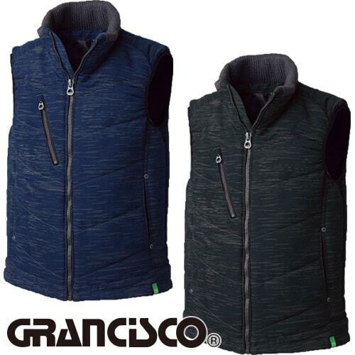GRANCISCO グランシスコ 防寒ベスト(ブラッシュプリント) GC-5103 作業着 防寒 作業服