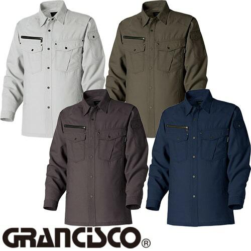 グランシスコ ワークシャツ GC-2702 作業着 春夏
