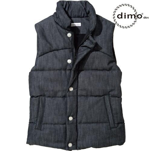 デニムフェイクダウンベスト D615 DENIM 作業着 防寒 作業服