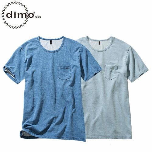 ニットデニムクルーネックTシャツ D408 半袖Tシャツ