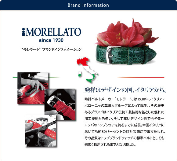 歴史と技術が裏付ける、イタリアのトップブランド時計ベルトメーカー「モレラート」