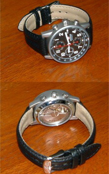 時計ベルトをモレラートのスピードに交換したWENGERコマンドオートマティッククロノ