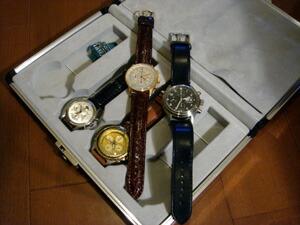時計ベルトをモレラートのティポブライトリングに交換したIWC ドッペルクロノ