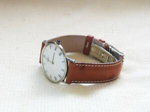 時計ベルトをモレラートのティポロンジンに交換したLONGINES