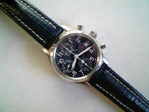 時計ベルトをモレラートのブライトリングクオイオに交換したハミルトン カーキクロノ
