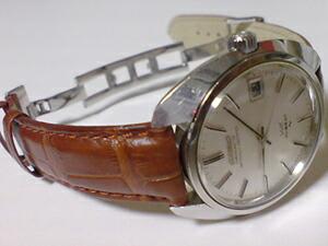 時計ベルトをモレラートのアマデウスに交換したキングセイコー4502クロノメーター