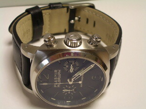 時計ベルトをモレラートのボテロに交換したプラズミール ミルグラフ