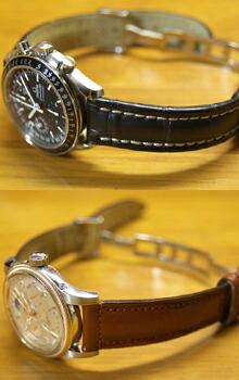 時計ベルトバックルをモレラートのDEPLOJANTE/2に交換したOMEGA