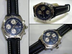 時計ベルトをモレラートのティポブライトリングクオイオに交換したブライトリング クロノマット