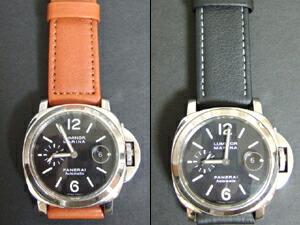 時計ベルトをモレラートのボテロに交換したパネライ ルミノールマリーナ オートマチック44mm