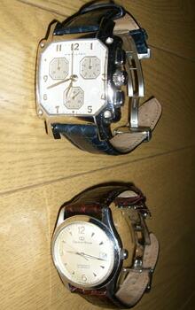 時計ベルトをモレラートのリバプールに交換したオリエントスター