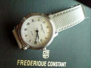 時計ベルトをモレラートのビオリノに交換したFREDERIQUE CONSTANT