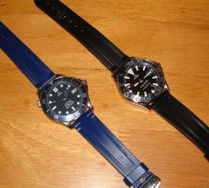 timeless design 59dbe 13b5e オメガ シーマスター300にモレラート時計ベルトを装着