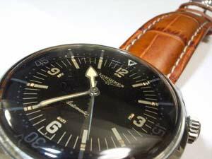 時計ベルトをモレラートのプラスに交換したロンジンダイバービッグサイズ・L-0629
