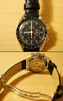 時計ベルトバックルをモレラートのDEPLOJANTE/2に交換したオメガスピードマスタープロフェッショナル