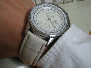 時計ベルトをモレラートのプラスに交換したORIENT KINGMASTER