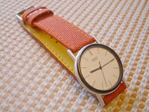 時計ベルトをモレラートのスピンネイカーに交換したSEIKO