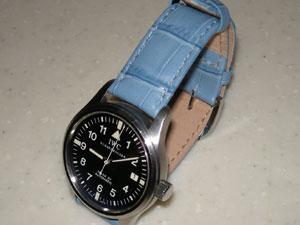 時計ベルトをモレラートのサンバに交換したIWC MK15