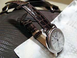 時計ベルトバックルをモレラートのDEPLOJANTE/2に交換したオエルメスラムサス