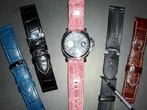 時計ベルトをモレラートのティポパネライとボテロに交換したPANERAI LUMINOR GMT44mm