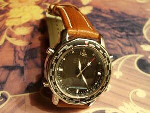 時計ベルトをモレラートのTIPO BREITLING CUOIOに交換したJAL オリジナル ( シチズン製 )